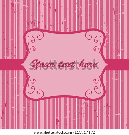Beautiful pink invitation card with place for your text