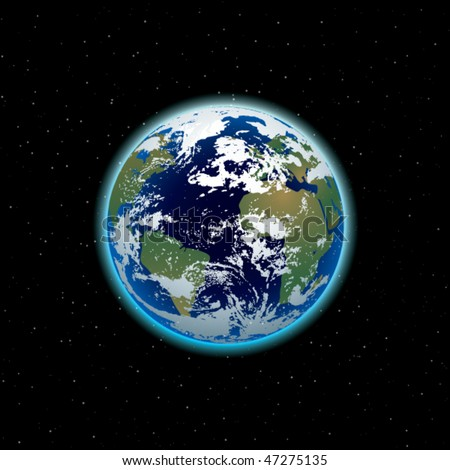 beautiful Planet Earth - stock vector
