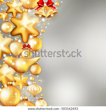 Beautiful red and gold christmas background. EPS 10 vector file included