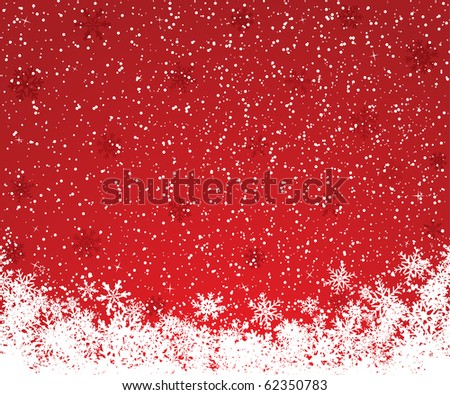 Beautiful red Christmas background with space for text - stock vector