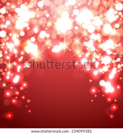 Beautiful red shining celebration background vector  - stock vector