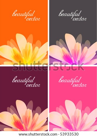 beautiful retro colors business card or background designs - stock vector