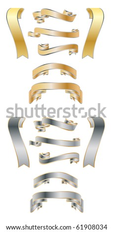 beautiful ribbons on white background