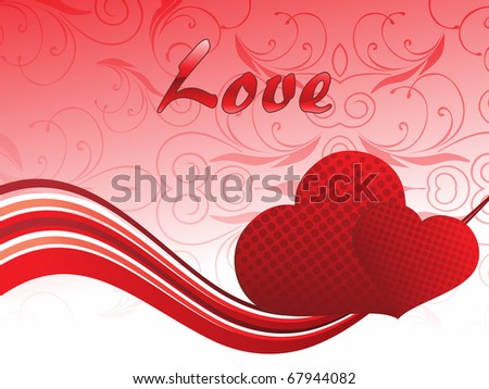beautiful romantic background for love - stock vector