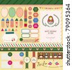 Beautiful Scrapbook Collection for Girl, Party, Memory, Stickers, Card Design. Beautiful Scra - stock vector