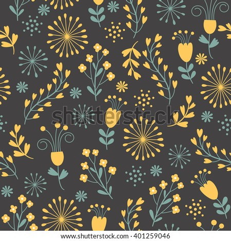 Beautiful seamless floral pattern background.  - stock vector