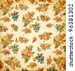 Beautiful Seamless flowers pattern on old paper, vector illustration - stock photo
