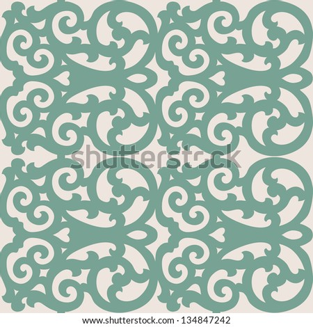 Beautiful seamless ornamental tile background vector illustration - stock vector