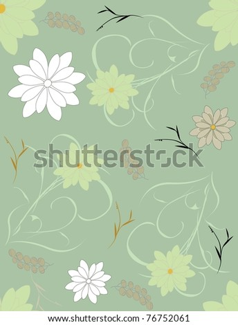 Beautiful seamless pattern a flower it is possible to fill any contour