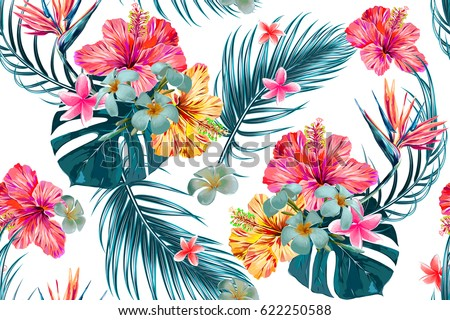 Beautiful Seamless Vector Floral Pattern Spring Stock