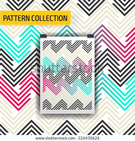 Beautiful seamless vector pattern background. Abstract stripped geometric texture - stock vector