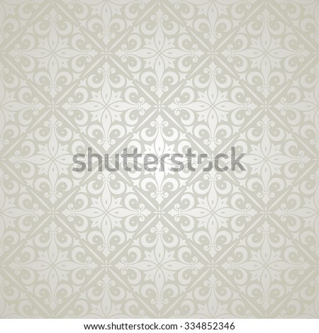 Beautiful silver pattern. Vector wallpaper background - stock vector