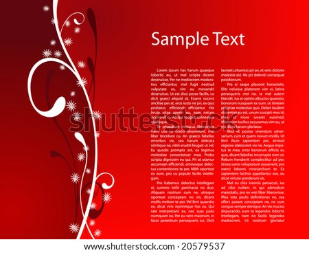 Beautiful simply red christmas card with place for text - stock vector