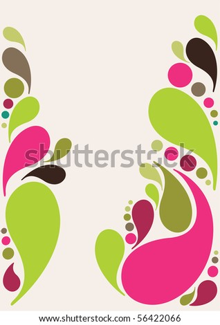 Beautiful splash drops background design in vibrant green and pink- Great for textures and backgrounds for your projects! - stock vector