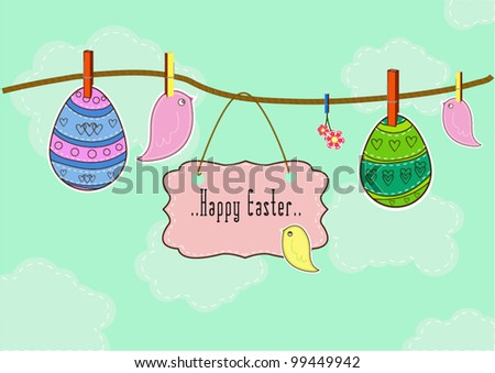 Beautiful Spring Easter background - stock vector