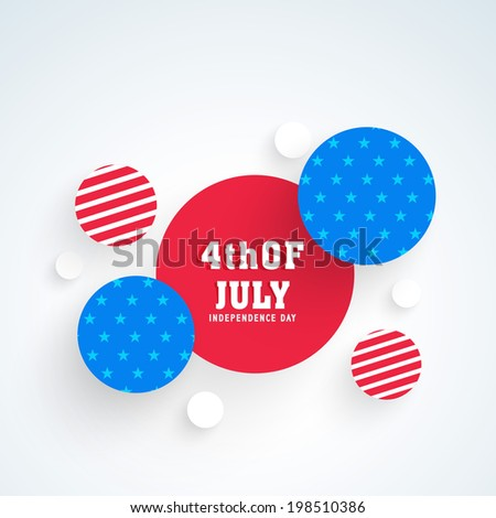 Beautiful sticky in red and blue colors for 4th of July, American Independence Day celebrations.  - stock vector
