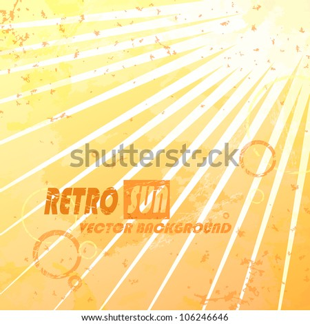 Beautiful summer retro sunburst. Vector illustration. Eps 10. - stock vector