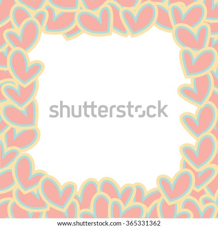 Beautiful sweet hearts vector pattern. Can be used for wallpaper, pattern fills, web page background,surface textures