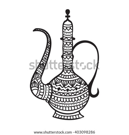 Stock Vector Vector Design Of Village Lantern In Indian Art Style