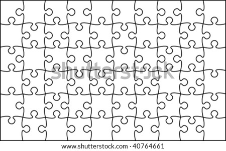 Beautiful transparent jigsaw puzzle vector - stock vector