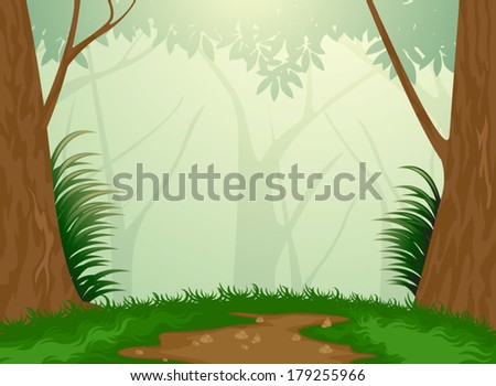 Beautiful tropical evergreen forest nature background