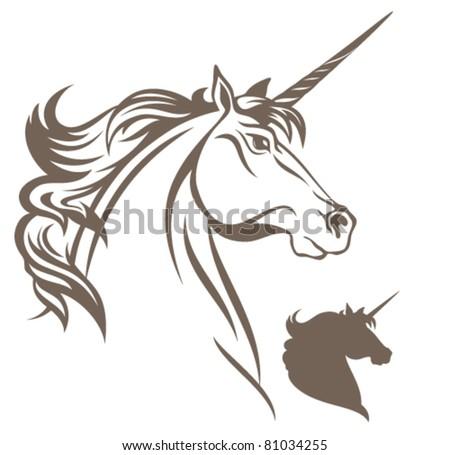 beautiful unicorn vector illustration - stock vector