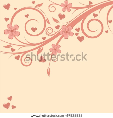 Beautiful Valentine's Card in delicate color - stock vector