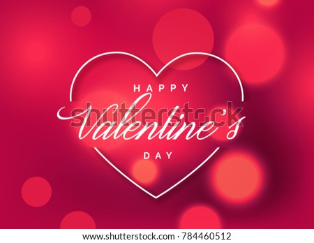 Beautiful valentines day greeting background bokeh stock vector beautiful valentines day greeting background with bokeh effect m4hsunfo
