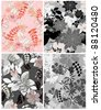 Beautiful vector a seamless pattern floral - stock photo