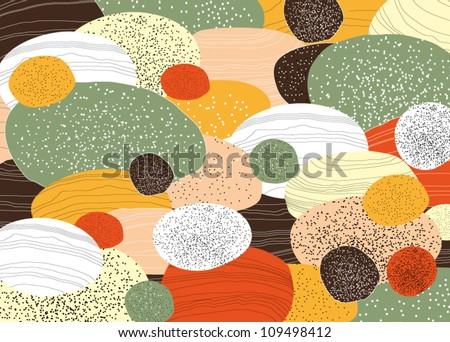 Beautiful Vector Abstract Background with Colorful Boulders - stock vector