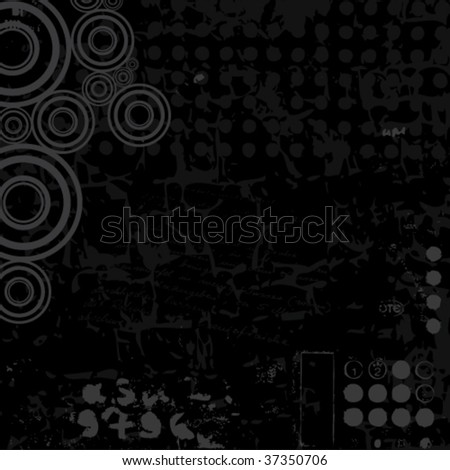 beautiful vector abstract grunge background - stock vector