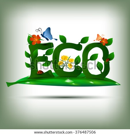 beautiful vector artistic ECO nature background - stock vector