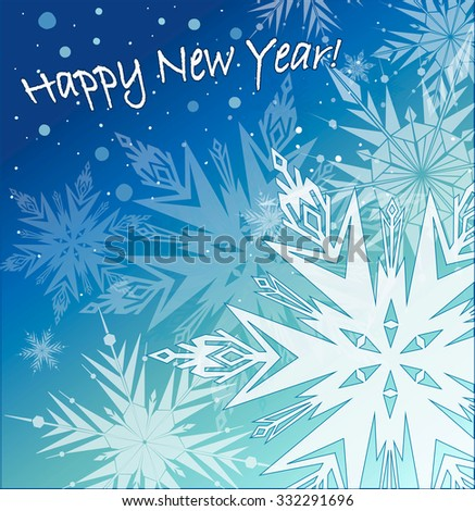 Beautiful vector background with snowflakes. - stock vector