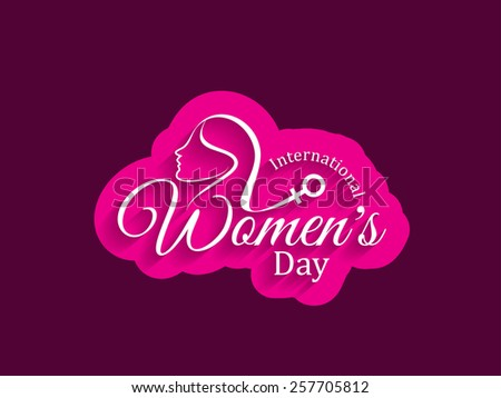 Beautiful vector greeting card design for Women's day.  - stock vector