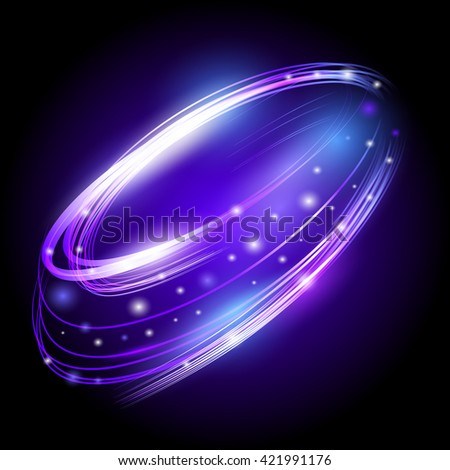 Beautiful vector light effect. Colored lights with flash. Vector background with the effect of neon and glow. Flying design elements. - stock vector