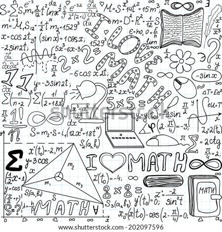 Back School Supplies Sketchy Notebook Doodles Stock Vector