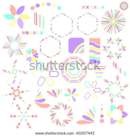 Beautiful  vector symbol collection over white background - stock vector