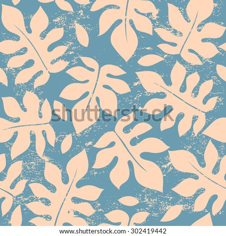 Beautiful vector vintage floral leaf seamless pattern