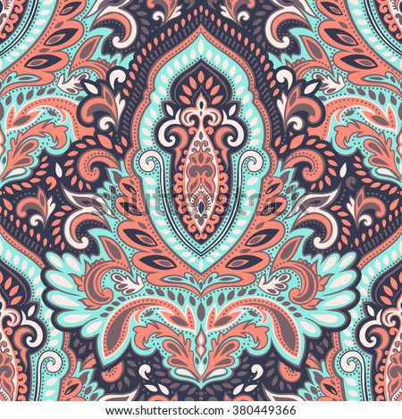Beautiful vector vintage floral leaf seamless pattern  - stock vector