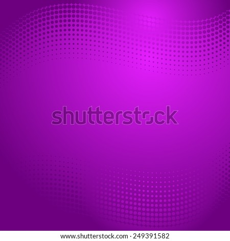 Beautiful vector violet abstract background with halftone effect - stock vector