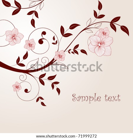 Beautiful vintage background with flowers. - stock vector