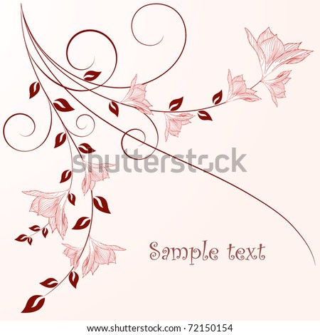 Beautiful vintage floral background with flowers. - stock vector