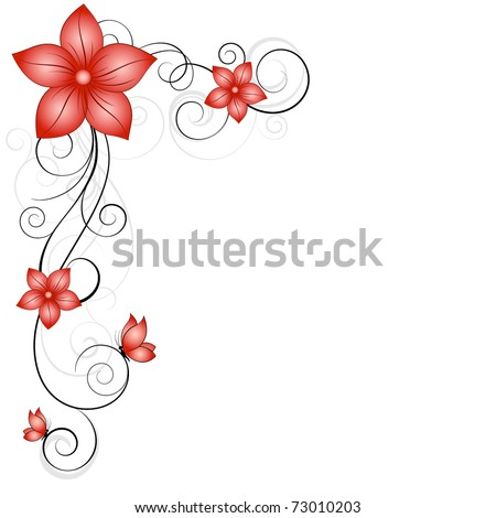 Beautiful vintage floral frame with butterflies. Element ...  Shutterstock Border Design Free Download