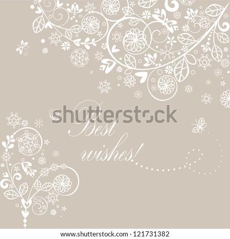 Beautiful vintage greeting card - stock vector