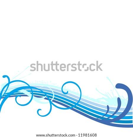 Beautiful Wave border - stock vector