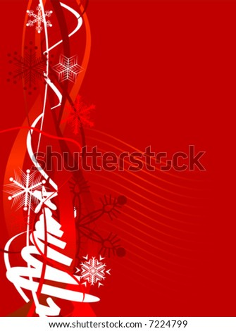 Beautiful winter background. Vector illustration.