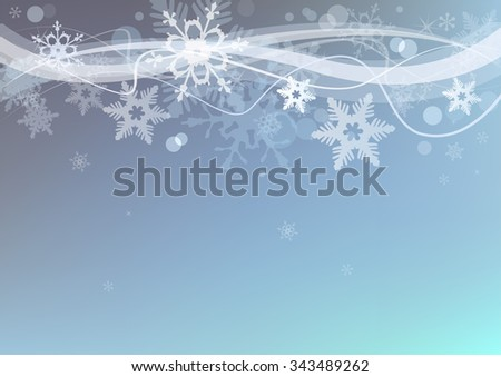 Beautiful winter snow background for banners, backgrounds, presentations and decorations. - stock vector