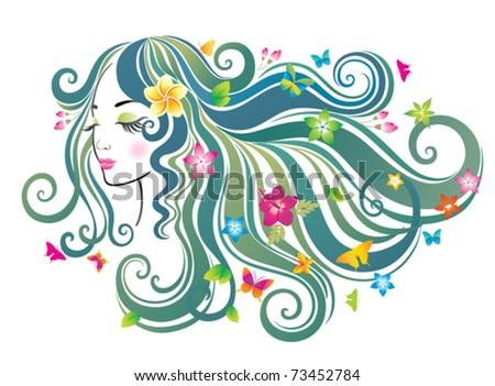Beautiful woman. - stock vector