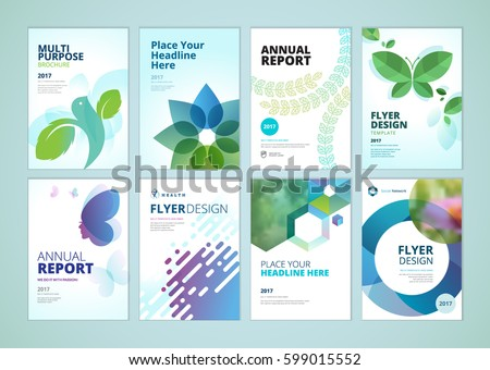 Beauty Natural Products Brochure Cover Design Stock Vector 2018