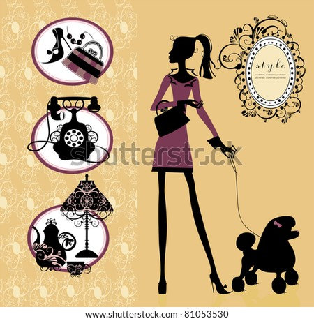 beauty and style vector set - stock vector